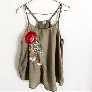 Anthropologie | Akemi + Kim needlepoint tank